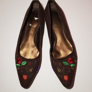 SAM & LIBBY slunderout felted embroidered flats